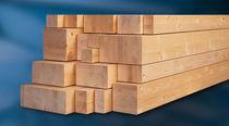 Glue-laminated wood beam / rectangular