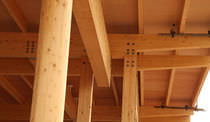 Wooden pillar / glulam