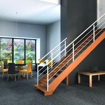 Quarter-turn staircase / straight / spiral / glass steps