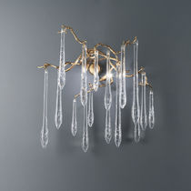 Traditional wall light / glass / bronze / halogen
