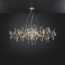 Traditional chandelier / glass / bronze / incandescent