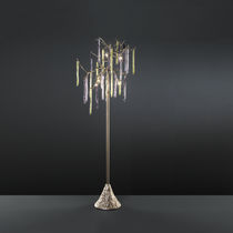 Floor-standing lamp / traditional / glass / bronze
