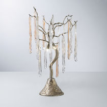 Table lamp / traditional / glass / bronze