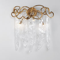 Traditional wall light / glass / bronze / LED
