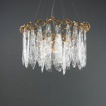 Pendant lamp / traditional / glass / bronze