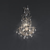 Pendant lamp / original design / metal / glass