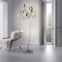 Floor-standing lamp / original design / metal / glass