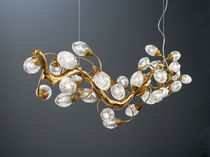 Pendant lamp / contemporary / glass / bronze