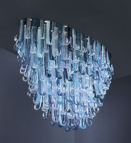 Original design chandelier / glass / LED / handmade