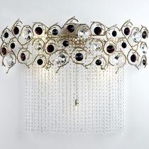 Classic wall light / bronze / crystal / halogen