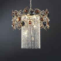 Pendant lamp / classic / bronze / crystal