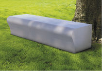 Public bench / contemporary / cement-glass composite