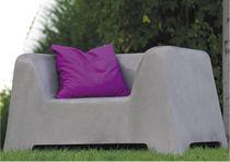 Contemporary armchair / concrete / for public spaces / garden
