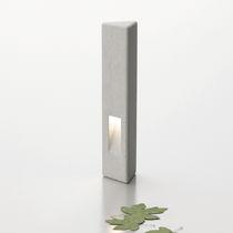 Security bollard / concrete / luminous