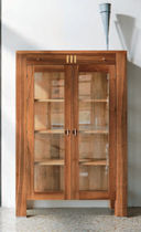 Contemporary display case / wooden
