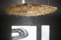 Contemporary chandelier / crystal / handmade