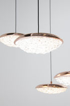 Pendant lamp / contemporary / brass / crystal