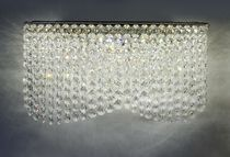Contemporary wall light / stainless steel / crystal / LED