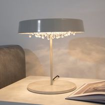 Table lamp / contemporary / crystal / handmade
