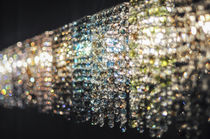 Contemporary wall light / crystal / handmade