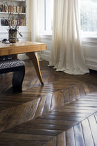 Solid wood flooring / glued / antique oak / oiled