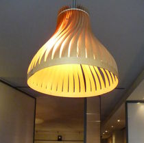 Pendant lamp / original design / wooden / handmade