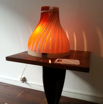 Table lamp / original design / wooden / handmade