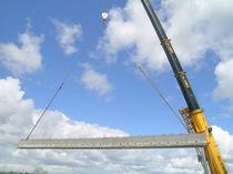 Prestressed concrete beam / rectangular / for bridge construction