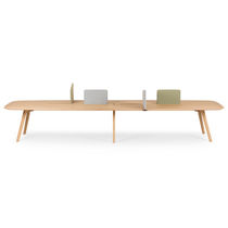 Contemporary work table / wooden / rectangular / for public buildings