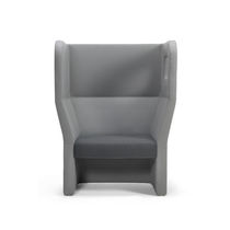 Visitor armchair / contemporary / high-back / fabric