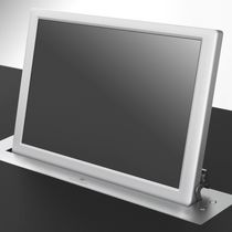 Conference table touch screen / wall-mounted / retractable