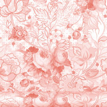 Contemporary wallpaper / floral / washable