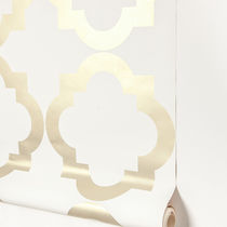 Contemporary wallpaper / patterned / printed / blue