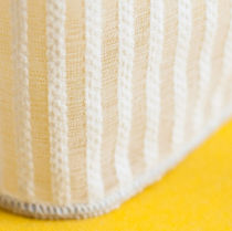 Striped sheer curtain fabric / polyester