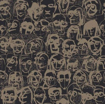 Contemporary wallpaper / cellulose fiber / patterned / washable
