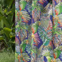 Curtain fabric / upholstery / animal motif / cotton
