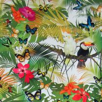 Upholstery fabric / nature pattern / animal motif / floral pattern