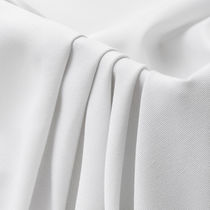 Curtain fabric / plain / polyester / fire-rated