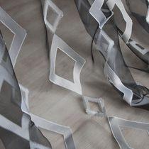 Geometric pattern sheer curtain fabric / Trevira CS®