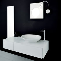 Wall-hung washbasin cabinet / wooden / contemporary / lacquered