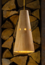 Pendant lamp / contemporary / wooden