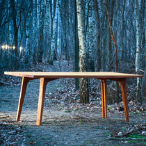 Contemporary table / wooden / rectangular / folding