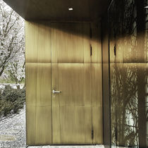 Entry door / swing / aluminum / brass