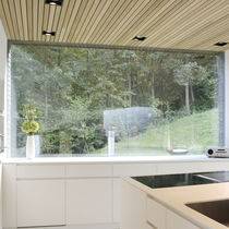 Sliding window / fixed / metal / double-glazed