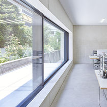 Sliding window / tilt-and-turn / aluminum / double-glazed