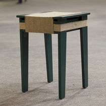 Contemporary stool / beech / commercial