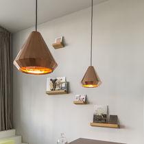 Pendant lamp / contemporary / brass / copper