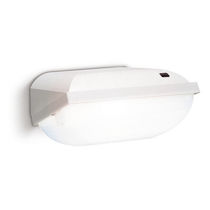 Wall-mounted emergency light / rectangular / compact fluorescent / polycarbonate