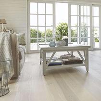 Engineered wood flooring / glued / oak / ash