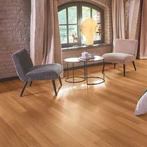 Engineered wood flooring / glued / oak / walnut